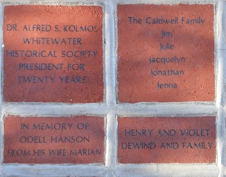 Whitewater Historical Society once again accepting brick orders