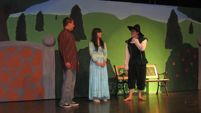 Students take on Shakespeare, 'and thereby hangs a tale'
