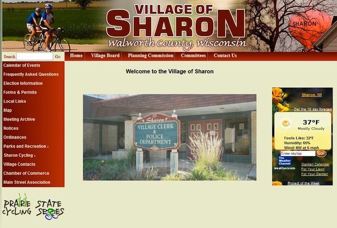 Village of Sharon unveils new website