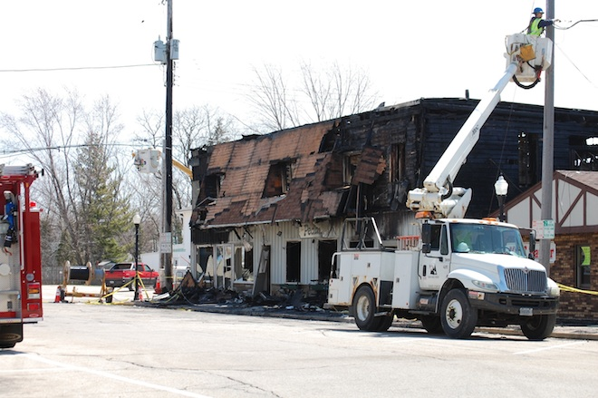 Fire damages two buildings on East Troy's historic village square