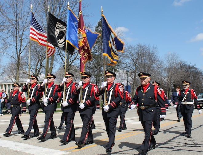 Renowned color guard featured in Loyalty Day Parade