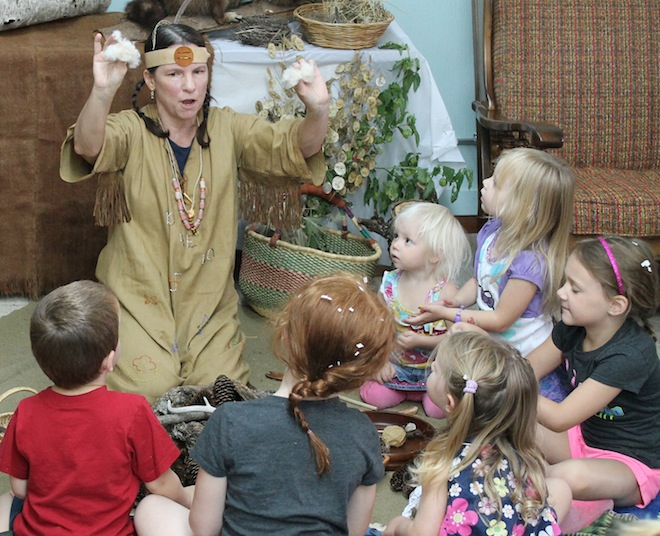 Wooly mammoths visit East Troy library