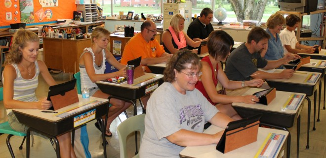 St. Peter's students using innovative new technology