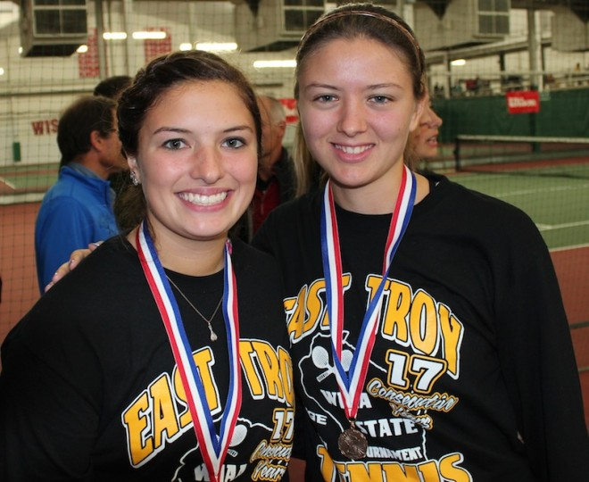Tennis duo finish career on medal podium