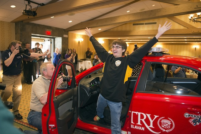 East Troy student wins Operation Click car