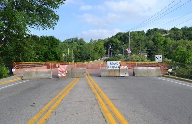 South Lakeshore Drive bridge in Fontana closed last week