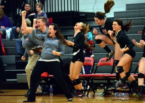 Volleyball season ends in regional finals