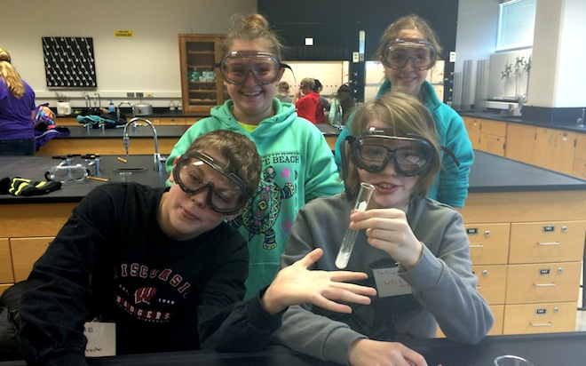 Immersed in science