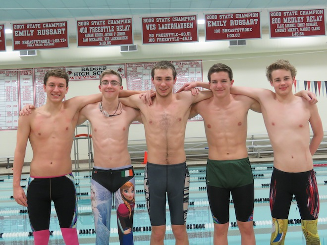 Badger swimmers compete at state