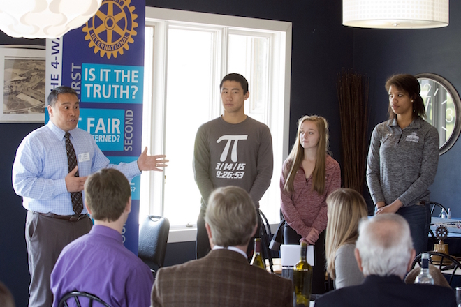 WHS athletes guest speakers at Rotary meeting