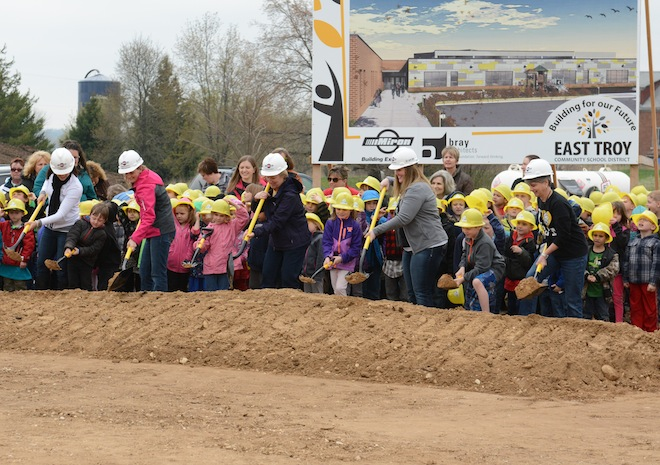 District breaks ground for new school