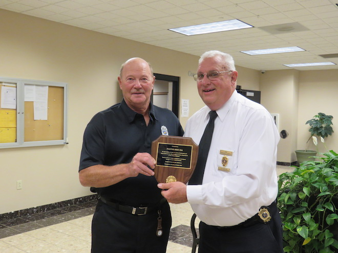 Police department chaplain retires