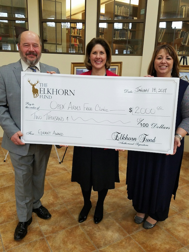 Open Arms Free Clinic receives grant