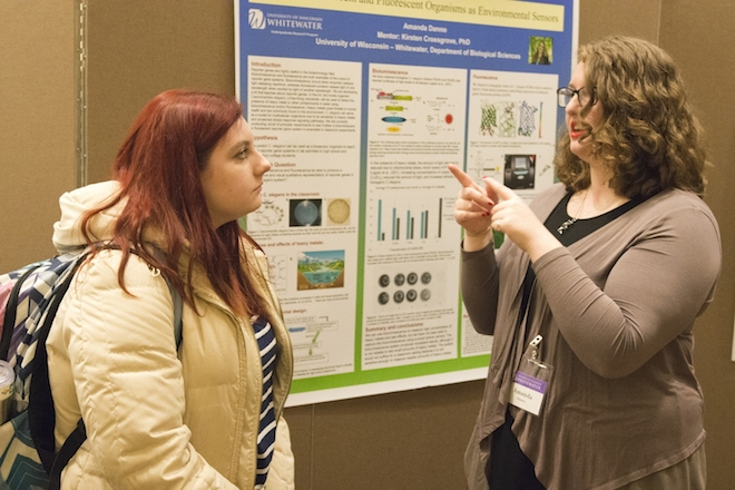 Students from Lake Geneva present research projects at UW-Whitewater