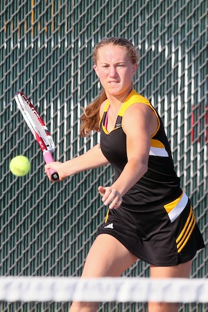 Tennis team takes second at conference tournament