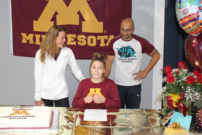 Gymnast signs with University of Minnesota