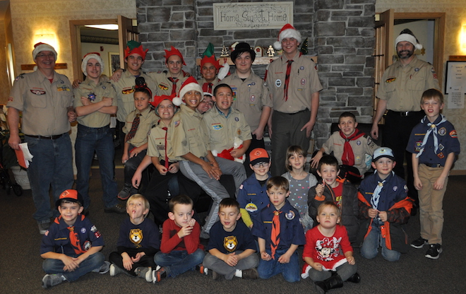 Scouts bring 'a little Christmas' to local seniors