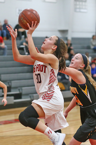 Big Foot girls find balance in win over Trojans