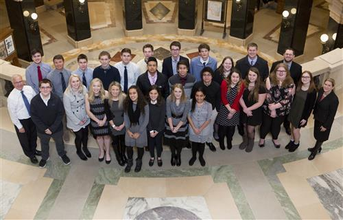 Big Foot HS students visit capitol in Madison