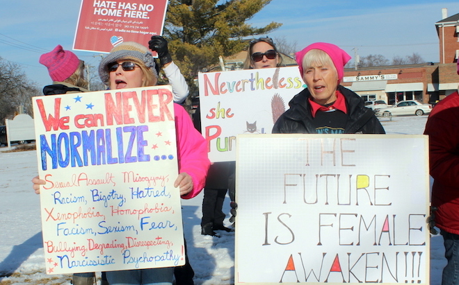 Marching for women