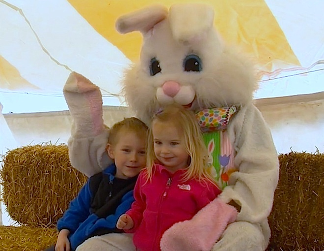 Hop aboard the Bunny Trains on the East Troy Railroad