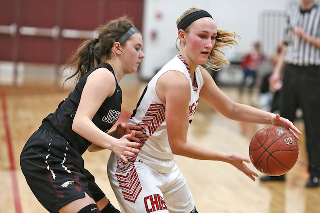 Lady Chiefs putting pressure on Eagles