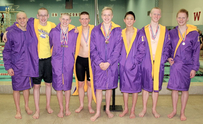 Elks swimmers land best state finish in school history