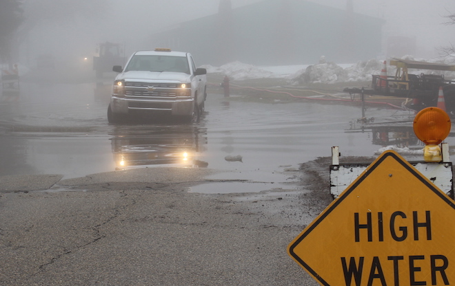 Area roads flooded early this week