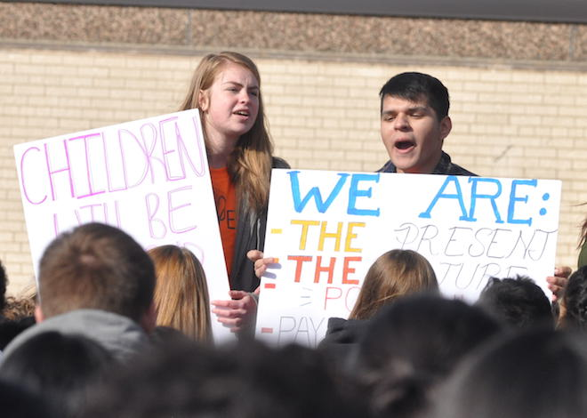 300 students join walkout at Delavan-Darien High School