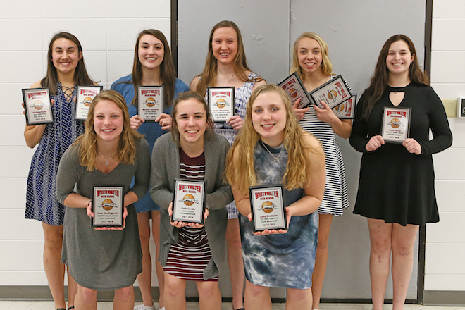 Whitewater athletes accept awards