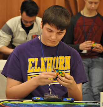 Elkhorn teen competes in local cubing competition
