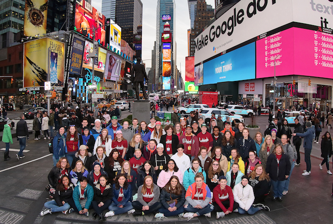 Williams Bay students take in the big city