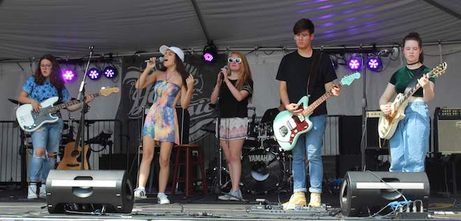 On stage at Venetian Fest