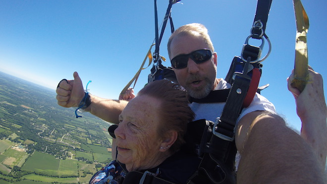 'Grandma Cookie' takes to the skies