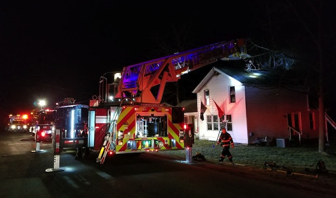 One injured in Darien house fire