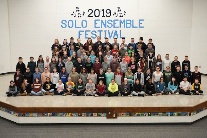 Middle school hosts district Solo Ensemble Festival