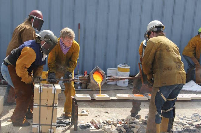 UW-W team offers annual iron pour