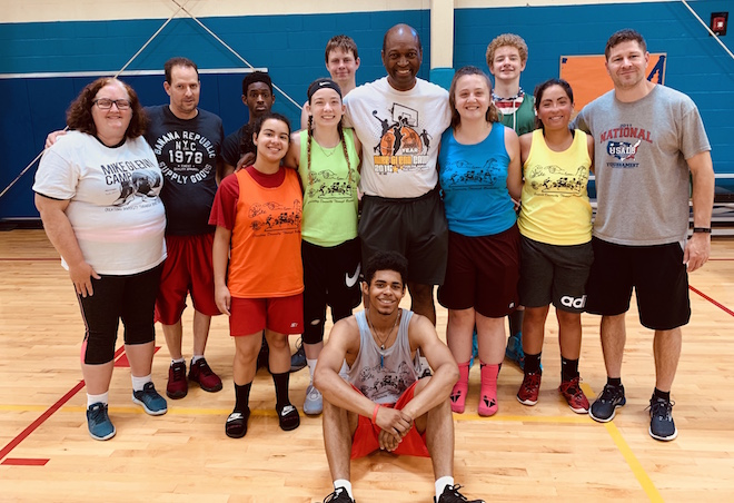 WSD athletes attend basketball camp