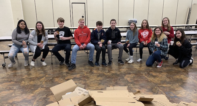 Students help with special delivery