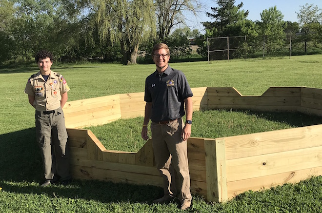 Scout builds ball pit at elementary school
