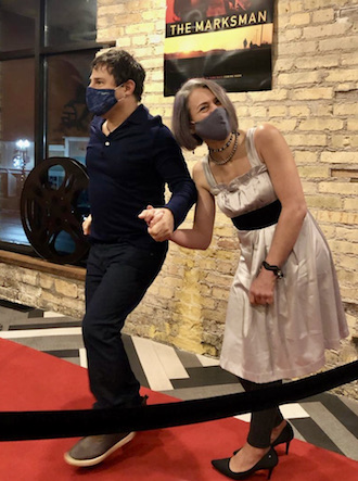 Writer gets 'red carpet' treatment at area theater