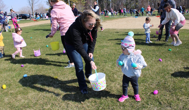 Warm weather makes egg hunting a breeze