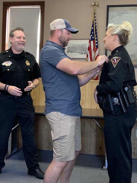 Town of Delavan PD officer promoted to captain