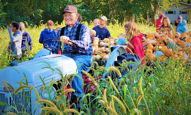 Kids share harvest with local families